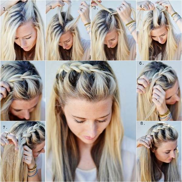 Stylish French Braid Hairstyle Tutorials