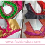 Simple and Beautiful Blouse Neck Designs Cutting and Stitching at Home