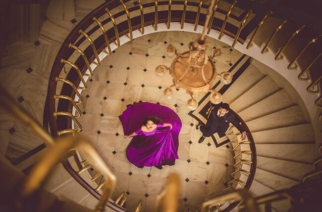 Somewhere our inner child still believe in fairytale stories where the groom and the bride will come downstairs in an exceptionally beautiful mansion. this picture will take you to your dream come true shoot. this amazingly beautiful shot credits
