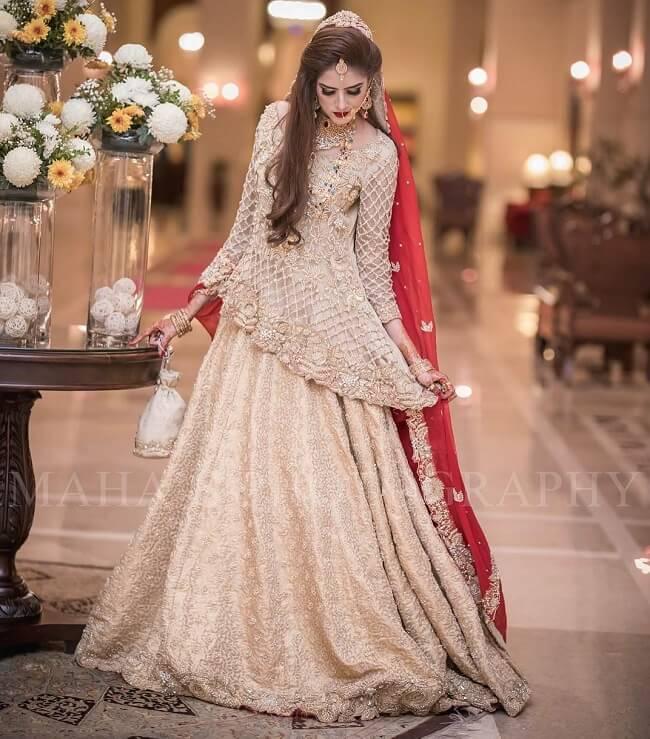 5f61c8fd9b5a61 11 Peplum Bridal Pakistani Dress Style Lehenga Fashionshala