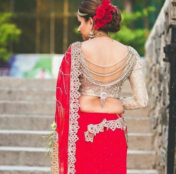 Bridal Lehenga Blouse Neck Back Design Fashionshala