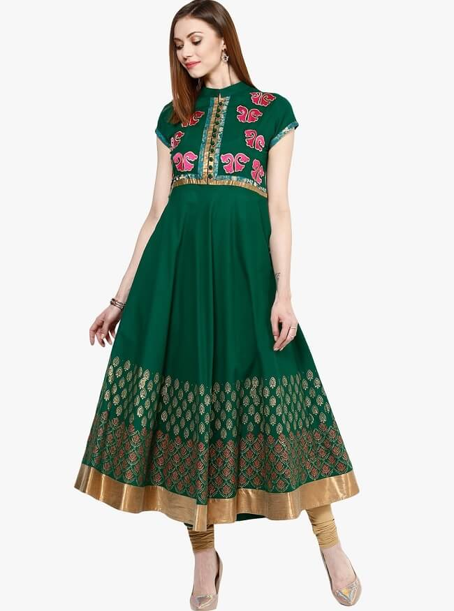 The most favourit style of a celebritiy is to slay the occassion with a anarkali kurti. this kurtis are basically meant for ethnic and grand functions such as a weddind or a festivsl. these kurties have a good amount of flare in the hemline and can flaunt the feminine curves gracefully. these are flared long length kutis paired with leggings or chudidar. if you attending a ttraditipnal occassion you should definately go with this style.