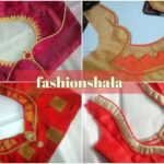 Fancy blouse back neck design cutting and stitching