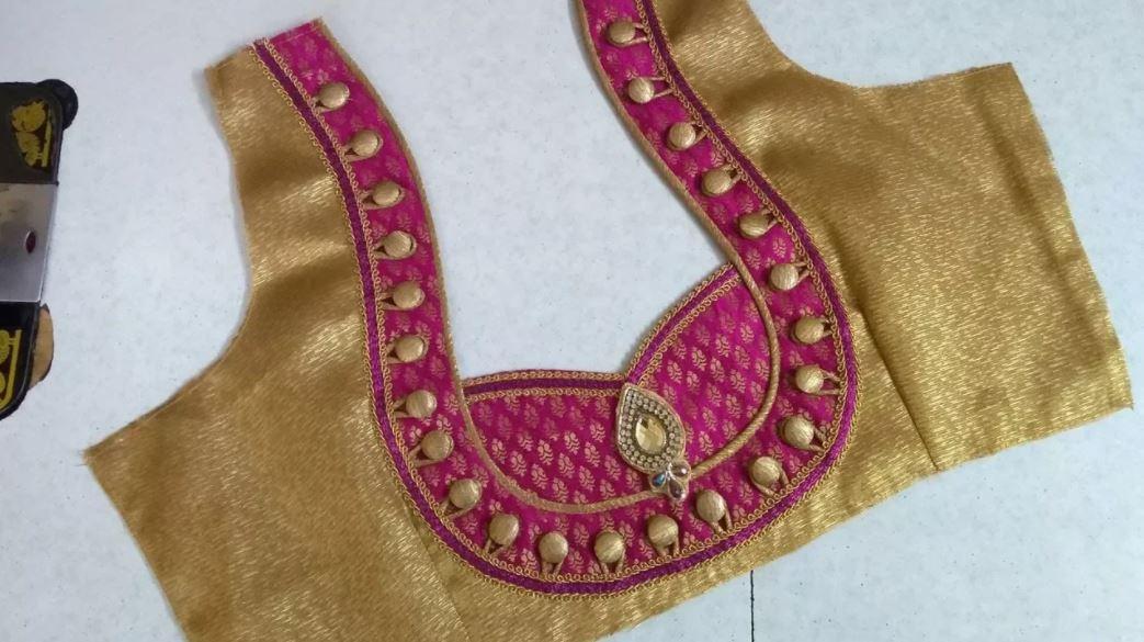 Designer Blouse Back Neck Design Cutting And Stitching