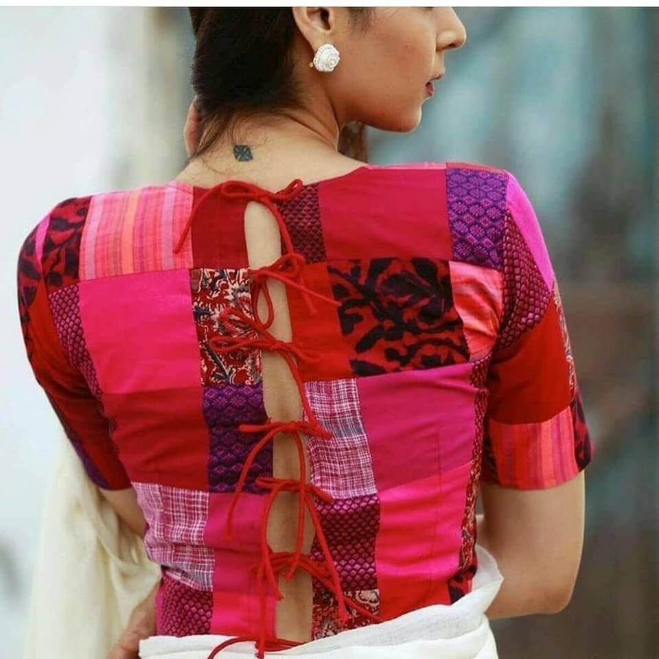20 Stylish and Trendy Saree Blouse Back Neck Designs