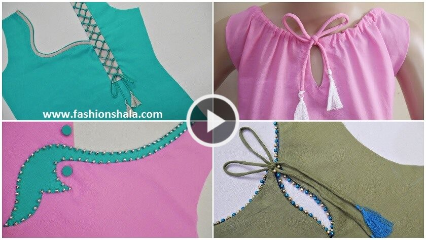 Stylish Neck Design Cutting & Stitching Tutorial