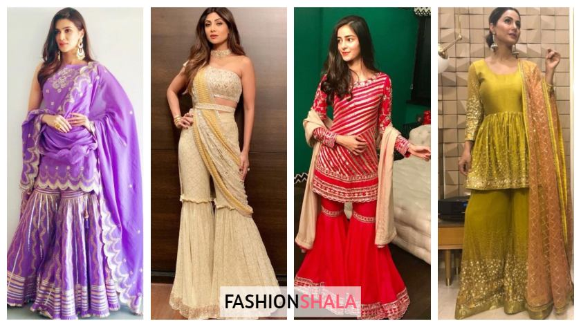 Designer Sharara Suits Inspo from Bollywood Celebs