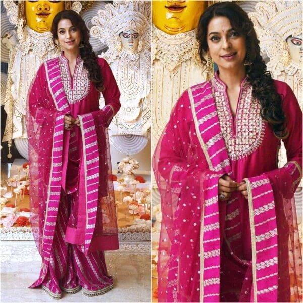 Pink sharara