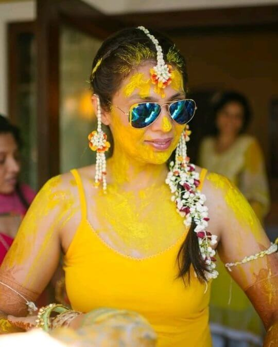 Too much yellow: Unique Haldi Ceremony Photoshoot Ideas To Make Your Wedding Special