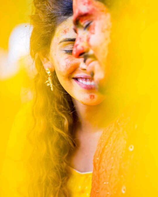 Get cosy and mushy: Unique Haldi Ceremony Photoshoot Ideas To Make Your Wedding Special