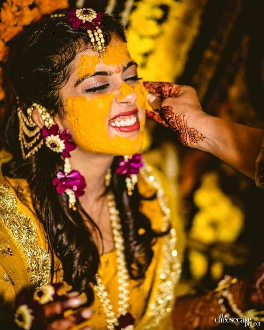 Ritualistic practice: Unique Haldi Ceremony Photoshoot Ideas To Make Your Wedding Special