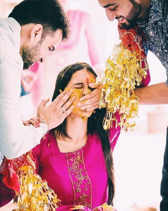 The blend of fun and warmth: Unique Haldi Ceremony Photoshoot Ideas To Make Your Wedding Special