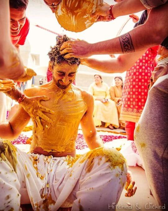 Caught in the midst of emotions: Unique Haldi Ceremony Photoshoot Ideas To Make Your Wedding Special