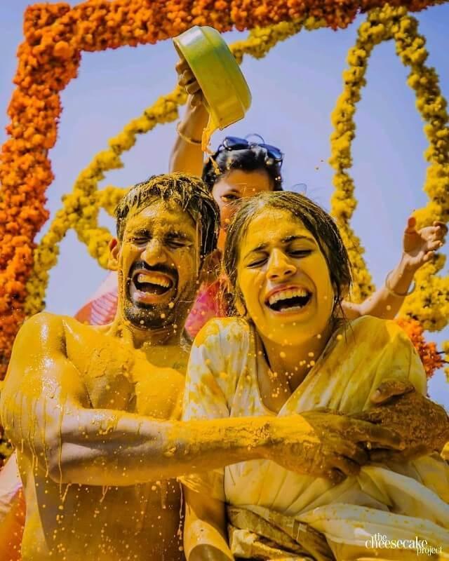 Unique Haldi Ceremony Photoshoot Ideas To Make Your Wedding Special K4 Fashion